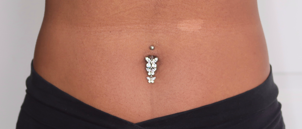 Triple Butterfly Belly Ring