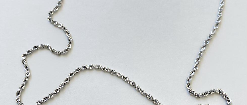 Silver Glasses/Mask Chain
