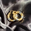 Thumbnail: Chunky Twisted Multi-Metal Hoop