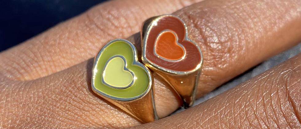 Powerpuff Heart Ring
