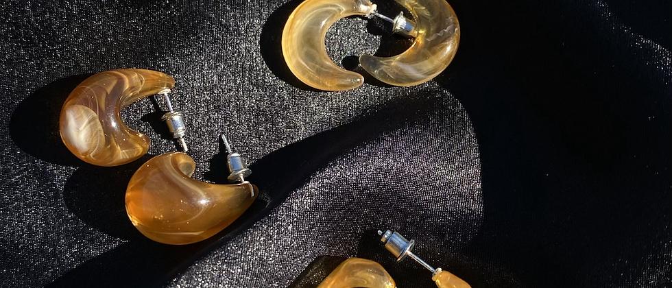 Irregular Earring Set -Tea