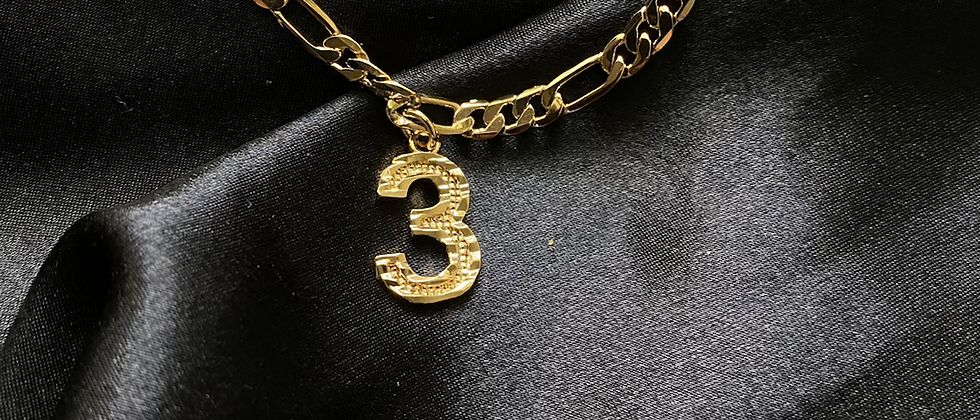Lucky 3 Anklet