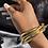 Thumbnail: Bangles(x3) Multi-Metal Bracelet