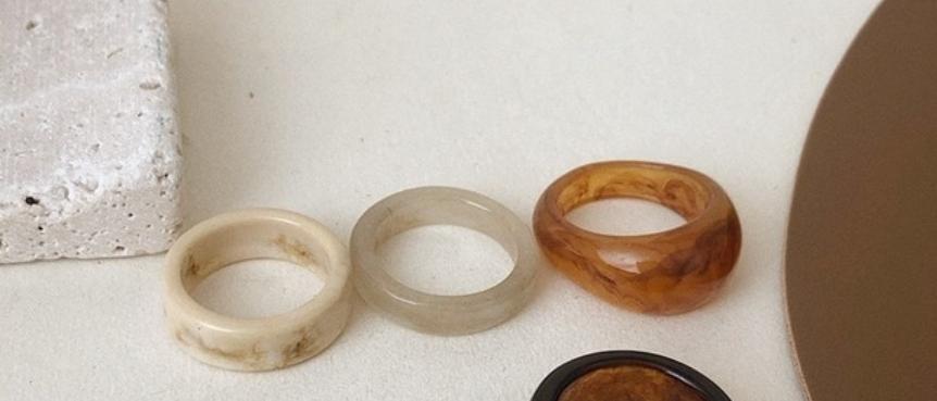 Resin Band Ring Set