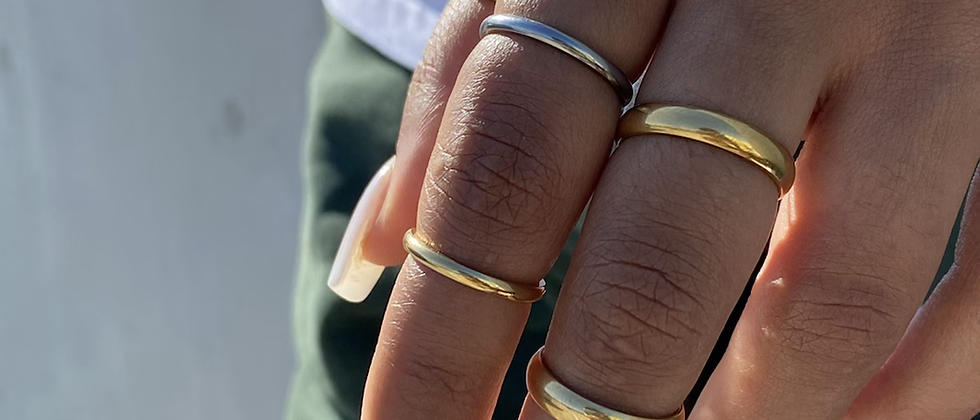Medium Thin Band Ring