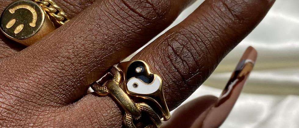 Heart Yin Yang Ring
