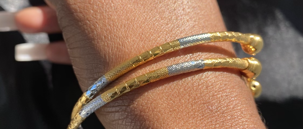 Bangles(x3) Multi-Metal Bracelet