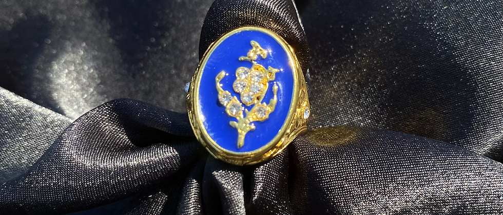 Royal Blue Oval Ring