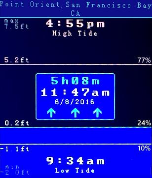 Pacific Tide Clock