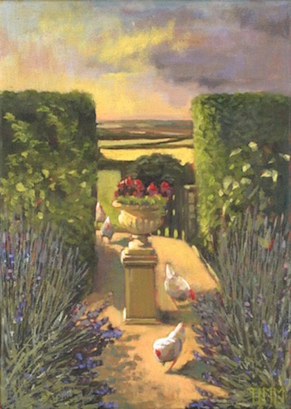 Hens In Lavender