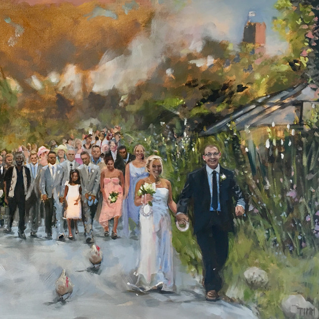 Paula & Chris' Village Wedding