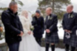 Winter kilt wedding in Whistler