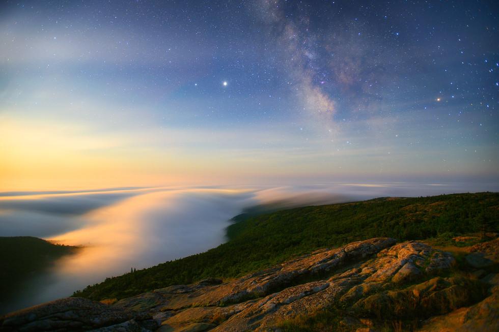 Milky Way Moonrise