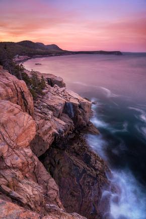 Sunset from Otter Cliffs