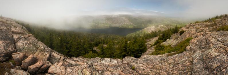 Fog on Pemetic Mountain Panorama