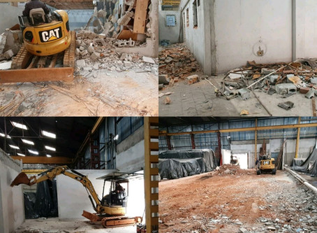 Serviço de demolição em empresa, Galpão,Armazéns , grande varejos ,etc.