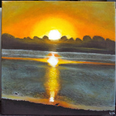 #33 SUNSET OVER THE BARWON - Wendy Proimos