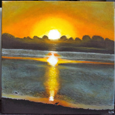 #33 SUNSET OVER THE BARWON - Wendy Proimos