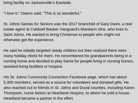 Gary Davis leads Santas for Seniors