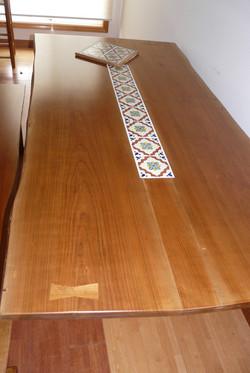 手作り作品テーブルセット