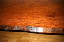 手作りテーブルブビンガ材