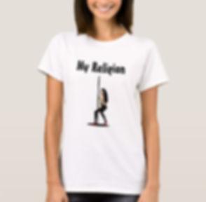 Eco Fitness Pole Queen Women's T-shirt.j
