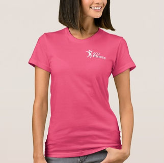 Women's-Eco-Fitness-Brand-T-Shirt-Pink 2