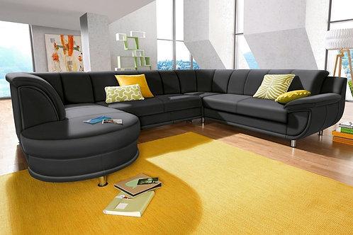 Wohnlandschaft ``RONDO`` mit Bettfunktion und Sessel