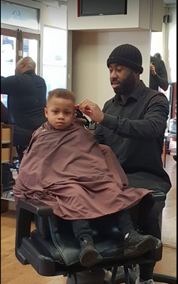 BU at work with a  child cut