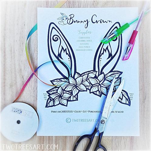 Printable Bunny Crown