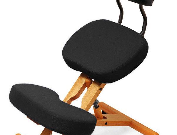 KW02B без чехла — деревянный коленный стул со спинкой