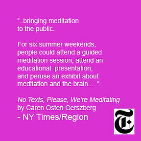 Meditation Summer Festival in the New York Times