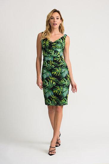 Joseph Ribkoff Black/Green/Multi Dress