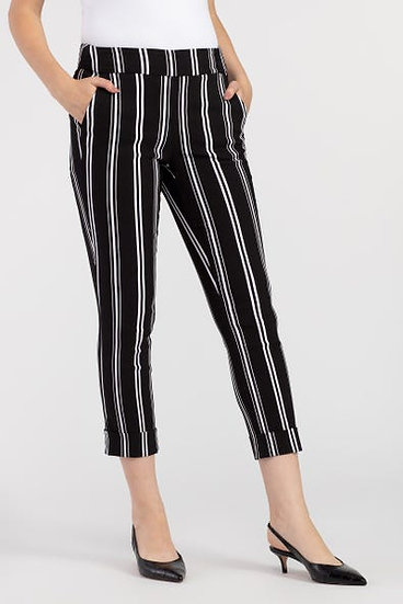 Striped Wide Leg Capri