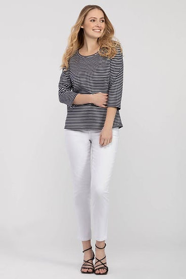 Back Detailed Striped Top