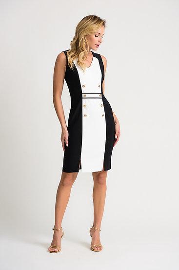 Joseph Ribkoff Black/Vanilla Dress