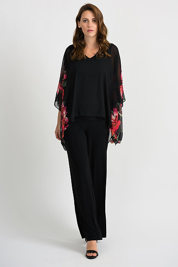 Joseph Ribkoff Black/Multi Top