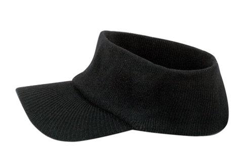 Cotton Acrylic Knit Open Sun Visor