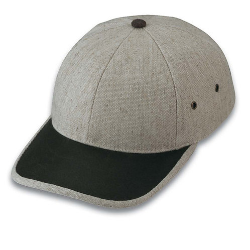 Heavy Textured Cotton Linen Blend Cap