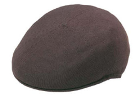 Brown Polyester Knit Ivy Cap
