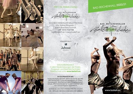 Ballettschule Flyer Bad Reichenhall-coro