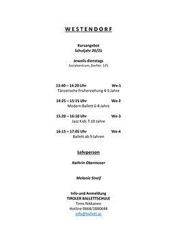Westendorf Stundenplan 2020-21 UPDATE SE