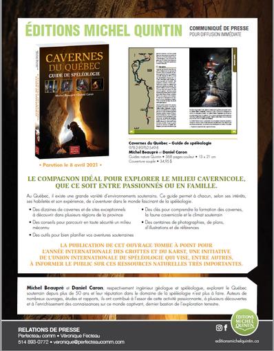 Cavernes du Québec, le compagnon idéal pour explorer le milieu cavernicole