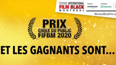 Dévoilement des gagnants des Choix du public du 16e festival International du Film Black de Montréal