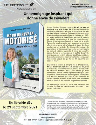 Ma vie de rêve en motorisé, un témoignage inspirant qui donne envie de s'évader!