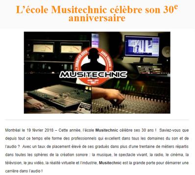 Musitechnic célèbre ses 30 ans