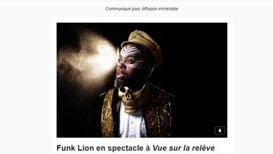 Funk Lion à Vue sur la relève