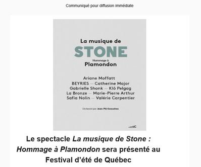 La musique de Stone au FEQ !