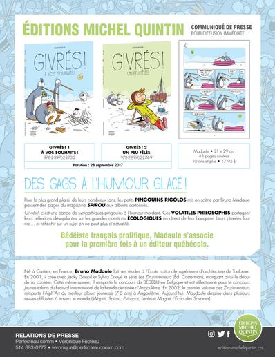 Givrés! Nouvelle série de BD jeunesse
