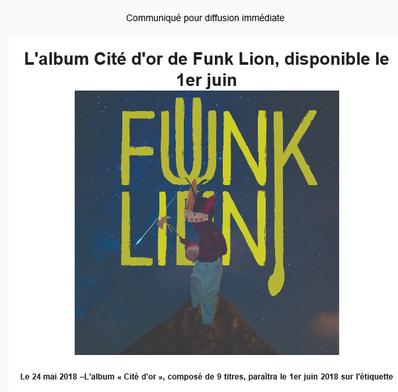 Un premier album pour Funk Lion